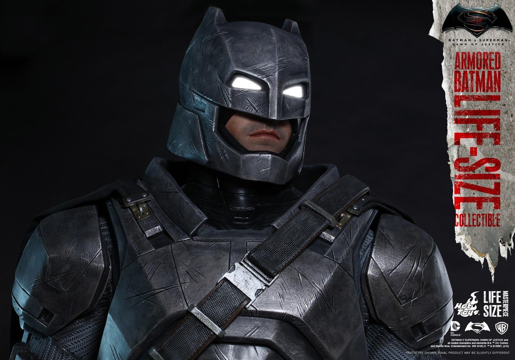 Hot Toys 蝙蝠侠大战超人 正义黎明 真人比例 蝙蝠侠重甲版 雕像 LMS001 玩家社区 专业的兵人模型论坛