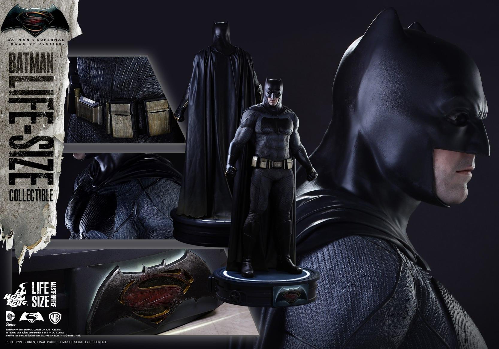 Hot Toys 蝙蝠侠大战超人 正义黎明 真人比例 蝙蝠侠普通版 雕像 LMS002 玩家社区 专业的兵人模型论坛
