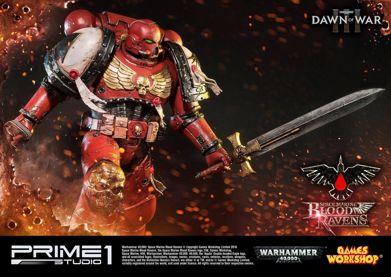 Prime Studio 4 战锤40K 战争黎明3 星际战士 血鸦Blood Ravens雕像PMWH40K 02 玩家社区 专业的兵人模型论坛